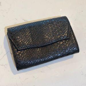 Express, Black Textured Small Shoulder Bag